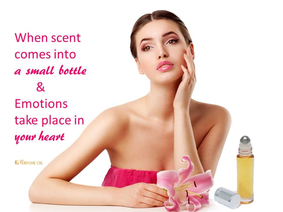 Woman body oil scents