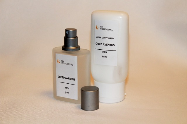 Set with a natural aftershave balm